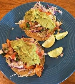 Shrimp tacos at Picante in San Rafael.