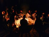 bonfire at Lawrence and Kristel's wedding