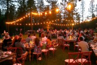 Dancing under the stars at Lawrence and Kristel's wedding