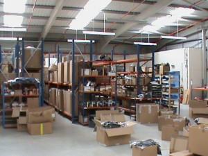 The warehouse shelving