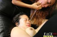 Face Fucking Laci Hurst & Kimberly Chi