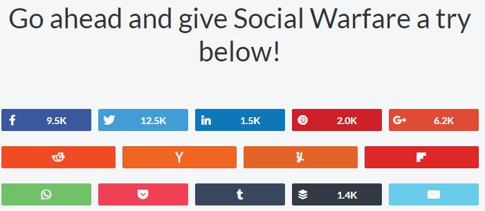 Social Warfare best WordPress Plugins For Blog