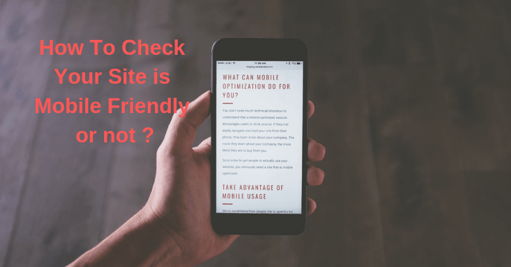 How To Check Your Site is Mobile Friendly or not ?