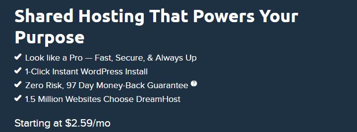 Dreamhost shared hosting Best cheap web hosts