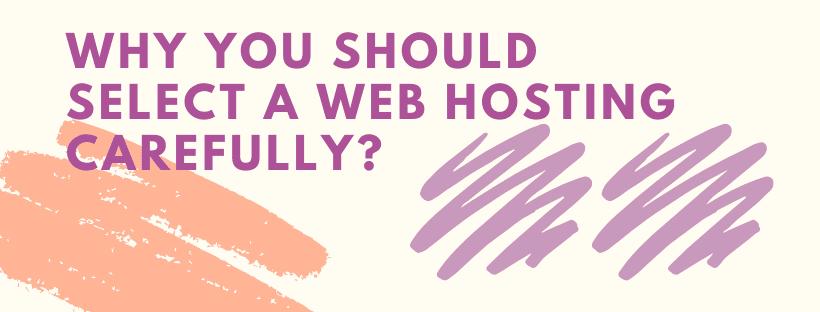 select web hosting carefully