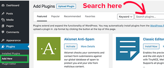 how to install wordpress plugins