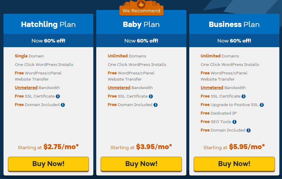 Hostgator web hosting is a perfect siteground alternatives
