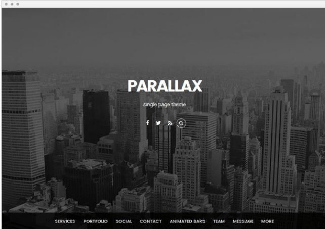 Parallax Responsive WordPress Themes