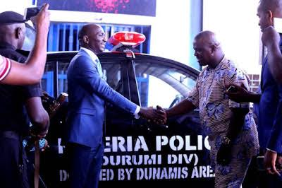 Paul Enenche donates to Police