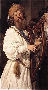 King David playing harp