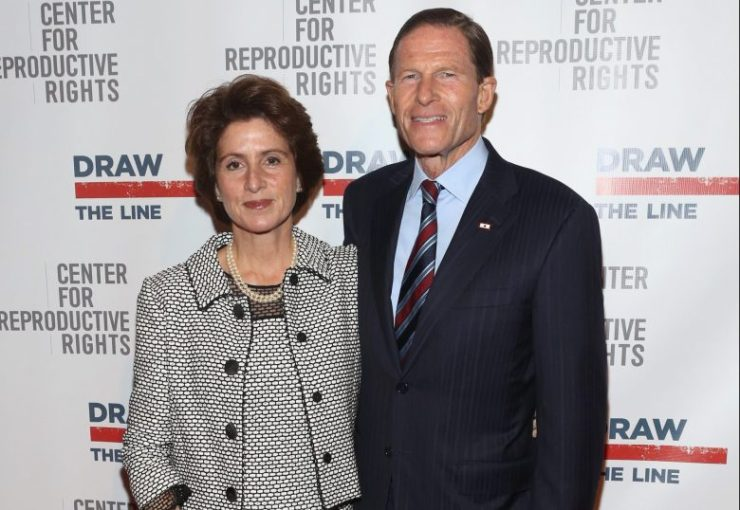 Richard Blumenthal and his wife Cynthia Malkin