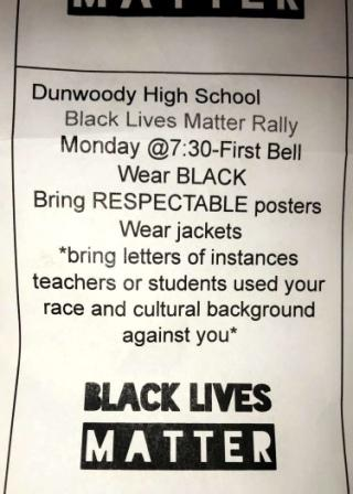 Dunwoody Black Lives Matter