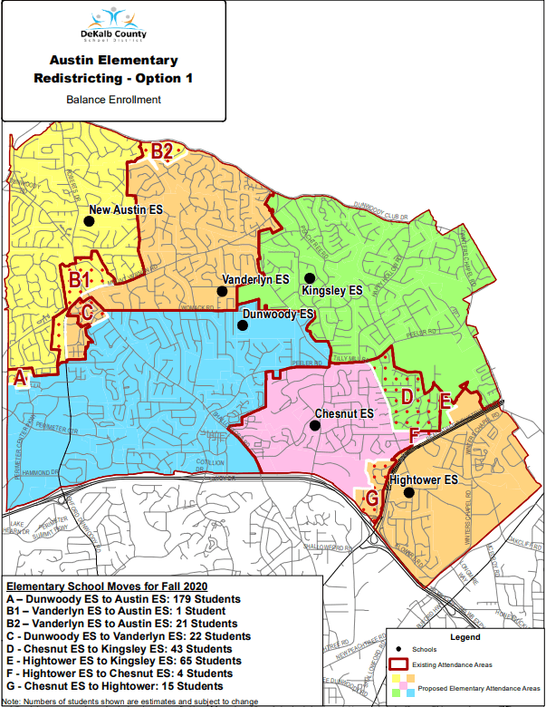 Austin Elementary School Redistricting Option 1