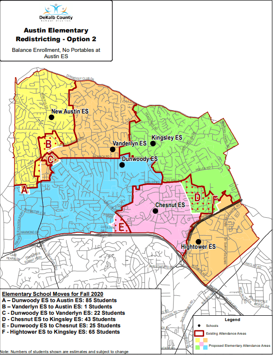 Austin Elementary School Redistricting Option 2