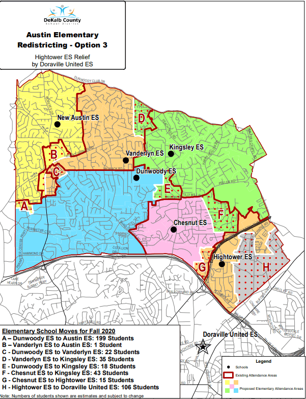 Austin Elementary School Redistricting Option 3
