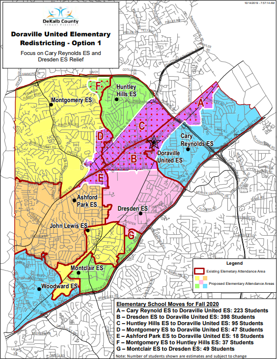 Doraville United Option 1 Redistricting
