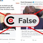 Edo Election: Report that Ize-Iyamu congratulated PDP, his opponent's party is FALSE