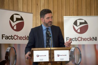 Jim FITZPATRICK. FactCheckNI launch event. Skainos Centre, Belfast, Northern Ireland. (c) Kevin Cooper Photoline
