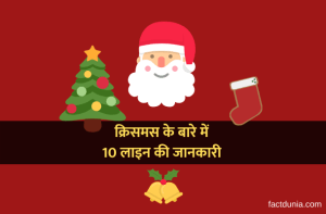 10 sentences about Christmas in Hindi