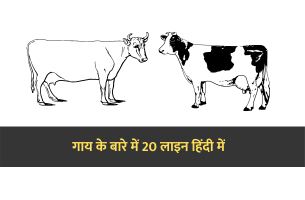 20 lines on cow in Hindi