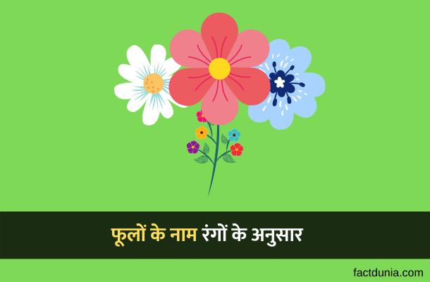 70 फूलों के नाम उनके रंग के अनुसार – Flowers Name in Hindi English
