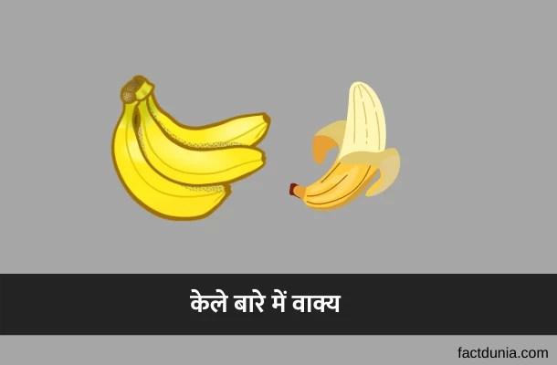 केले पर वाक्य [निबंध] – 10 Lines on Banana in Hindi