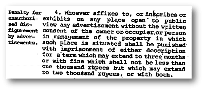 Section 4 - Prevention of disfigurement of open places - Swachh Bharath