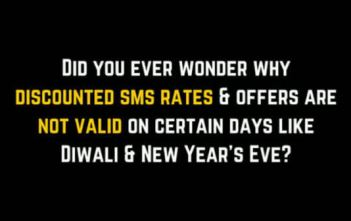 Why are discounted SMS rates not valid on certain days