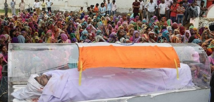 Draping the Indian National Flag in Civilian Funeral is an Offence