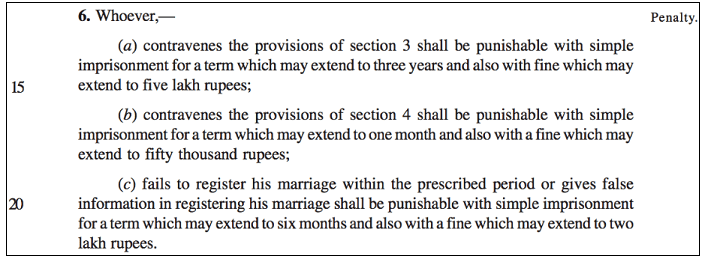 Prevention of Extravagance in Marriages_guilty punishment
