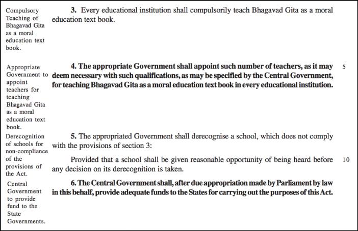 interesting Private Member bills_bhagavad gita compulsory