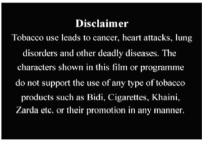 Anti-tobacco Health spots & Disclaimers_2