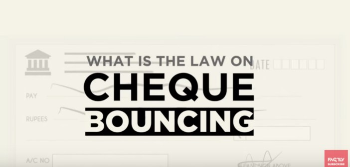 what is the law on check bouncing