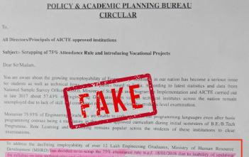 AICTE 75% Attendance rule_Featured image_factly