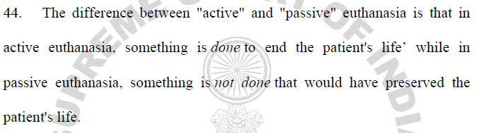 active vs passive euthanasia essay A student essay essay question:is there a difference between active and passive euthanasia discuss 1 it is often argued that doctors are justified in allowing their patients to die by withdrawing or withholding treatment, but are not justified in killing them.