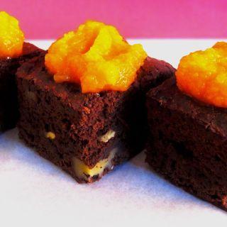 Brownie sin gluten con calabaza