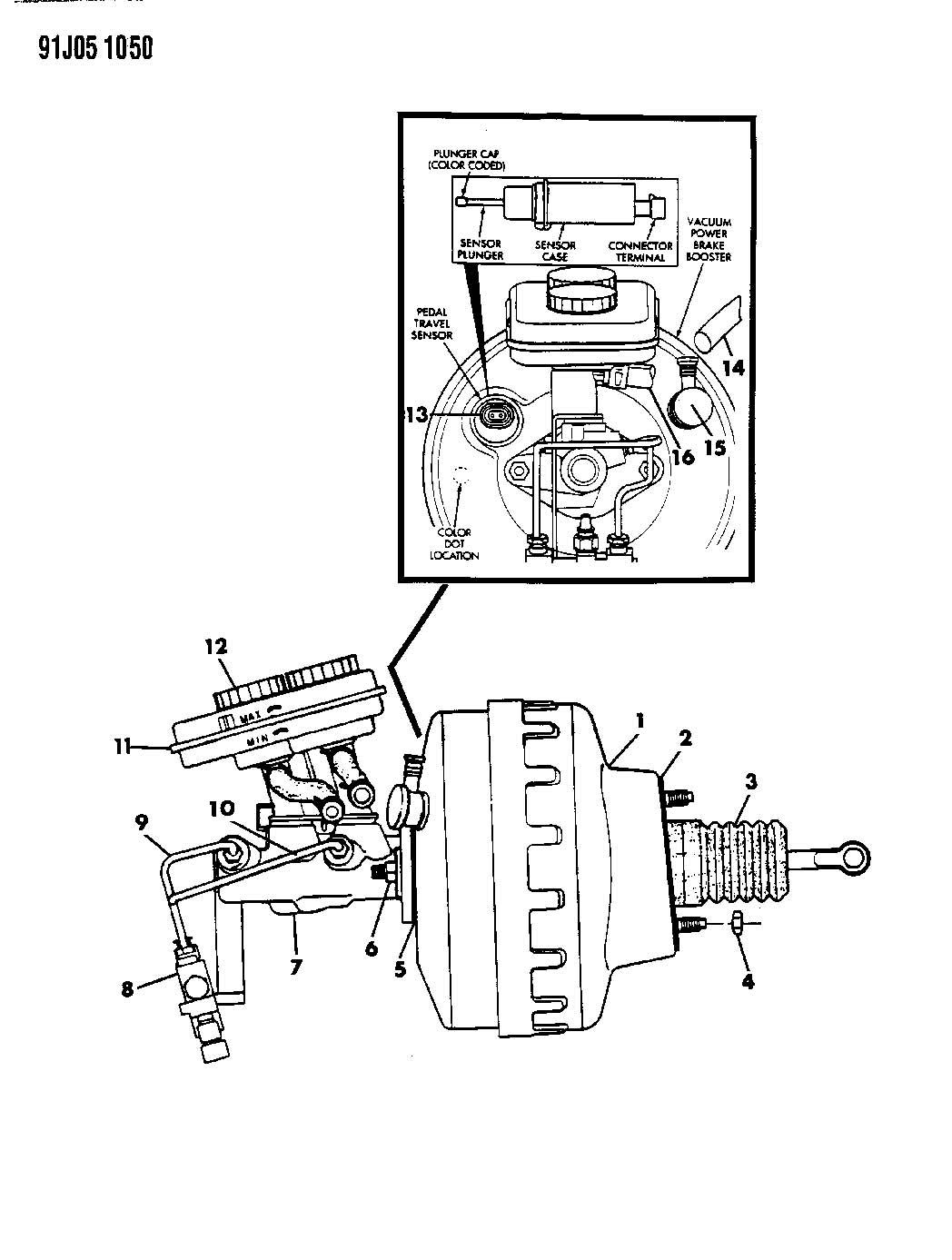 Cylinder Brake Master 93 W Anti Lock Braking System Cherokee Briarwood Grand Cherokee