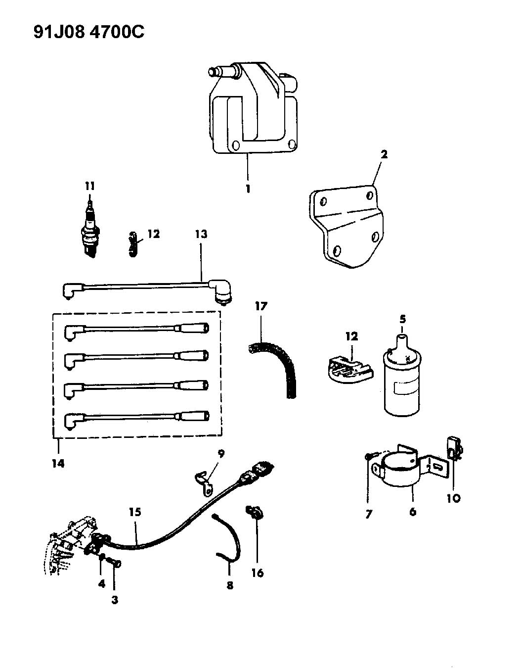 Jeep Wrangler Coil Sparkplugs Wires 2 5l Engine
