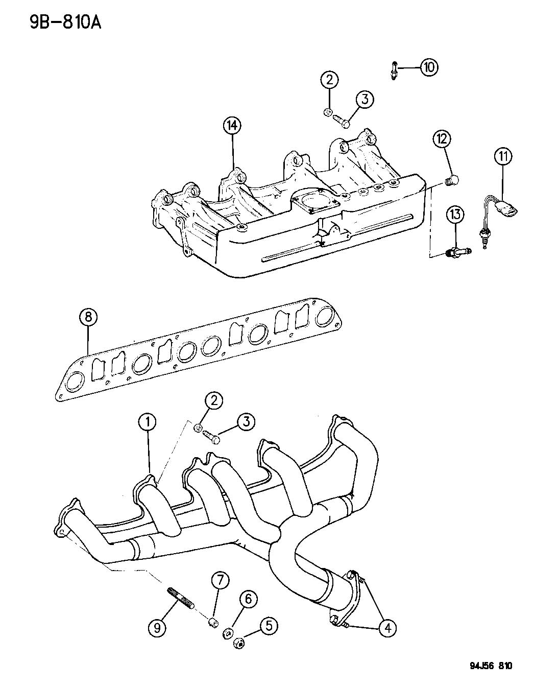 Manifold Intake And Exhaust 4 0l Engine