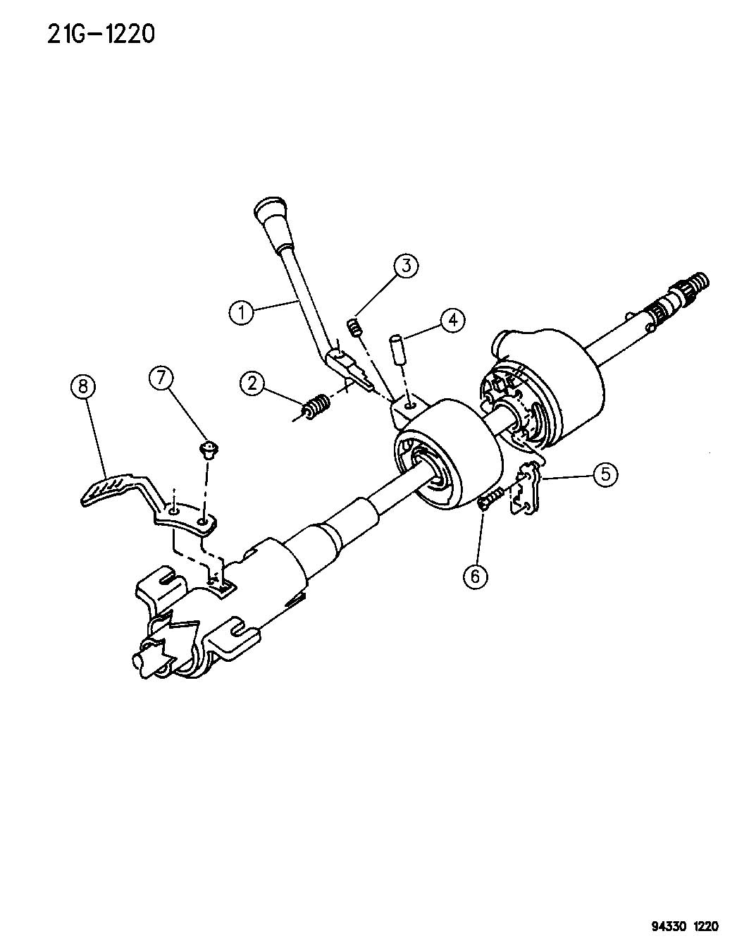 Controls Gearshift Steering Column Shift With And