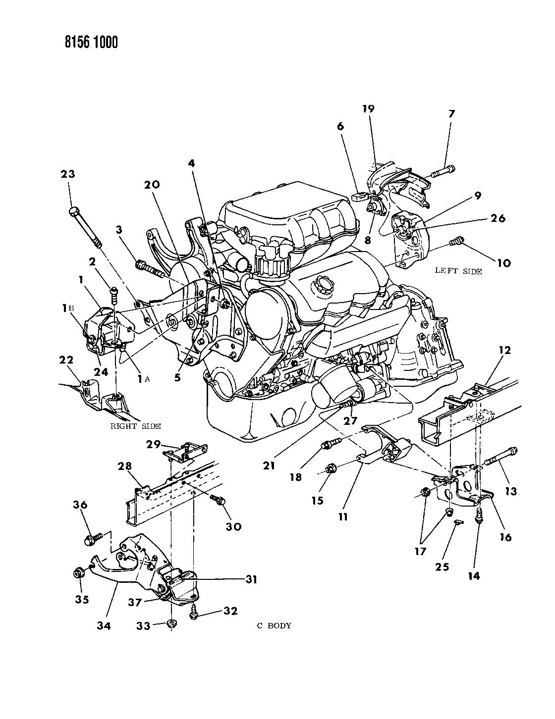 Plymouth Grand Voyager Engine Mounting 3 0 L Engine