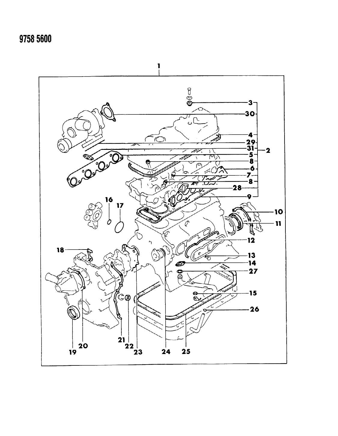 Dodge Raider Gasket Sets 24rwd 27 2 6 L Engine