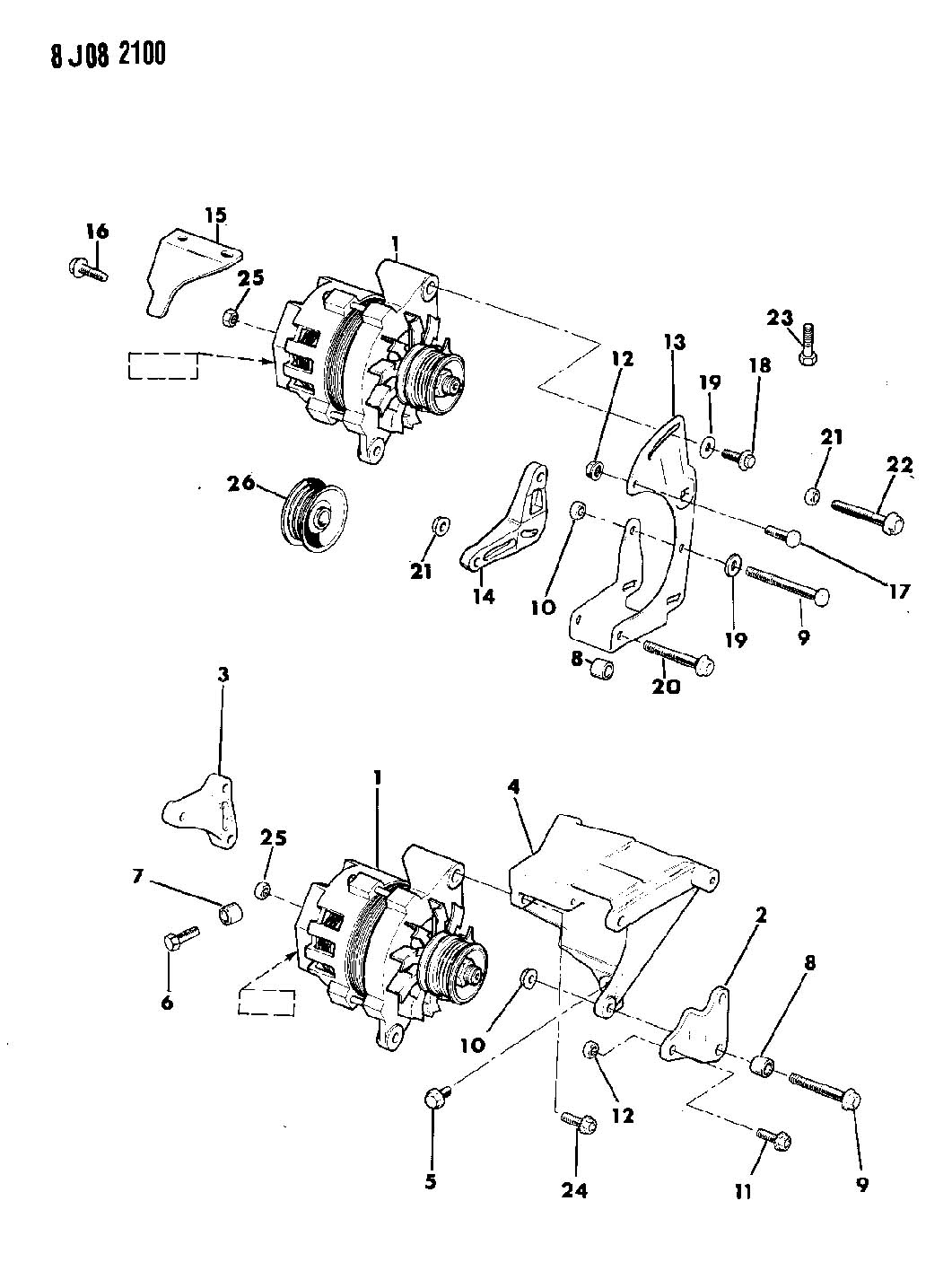 Jeep Cherokee 2 5l I4 5 Speed Manual Alternator And