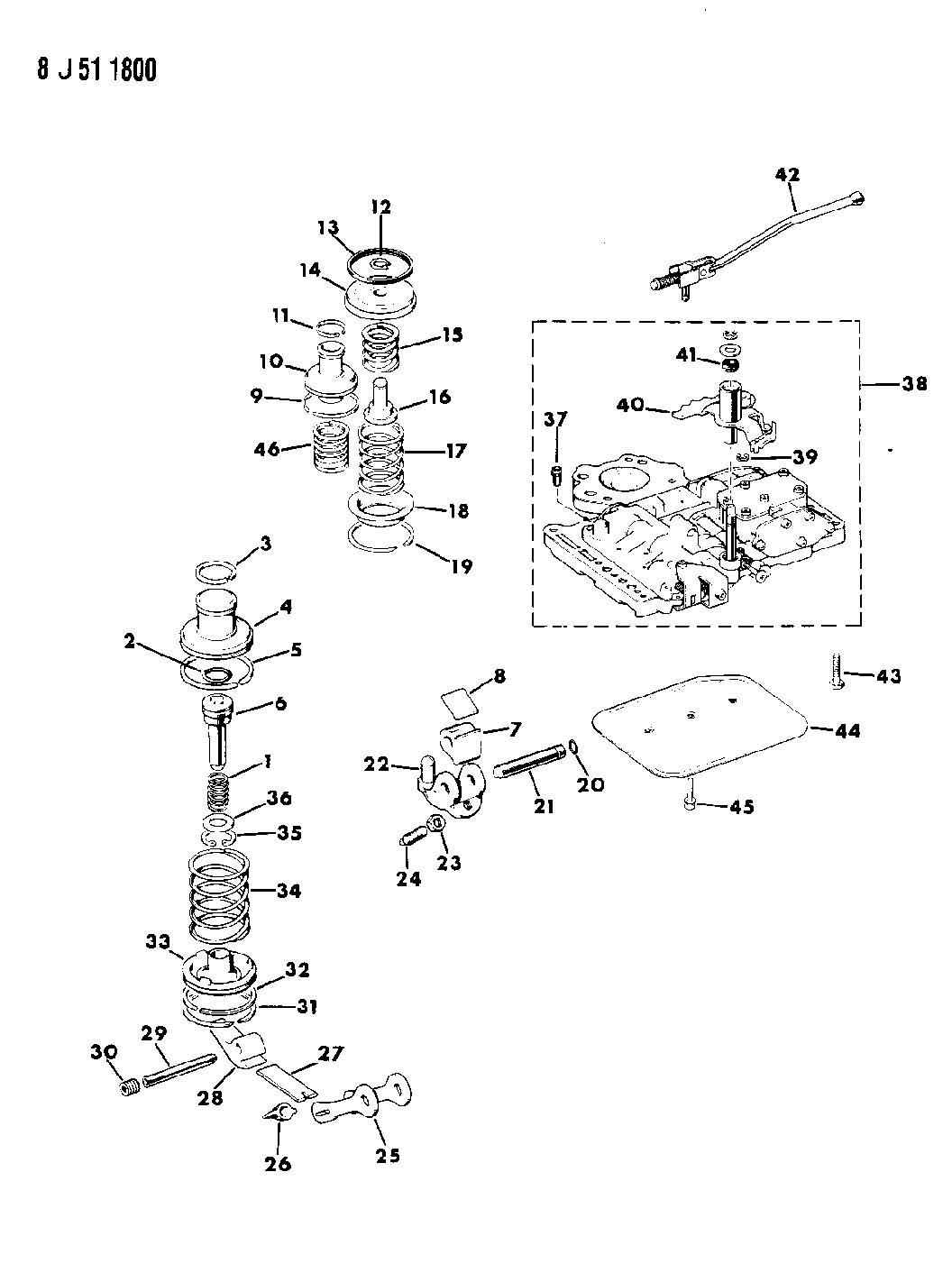 Servos Accumulator And Valve Body Automatic Transmission