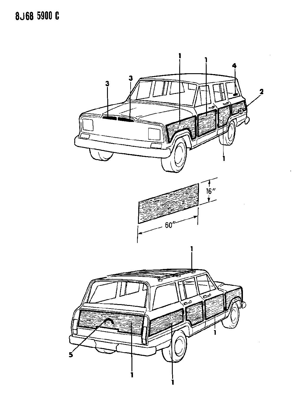Jeep Grand Wagoneer Body Parts
