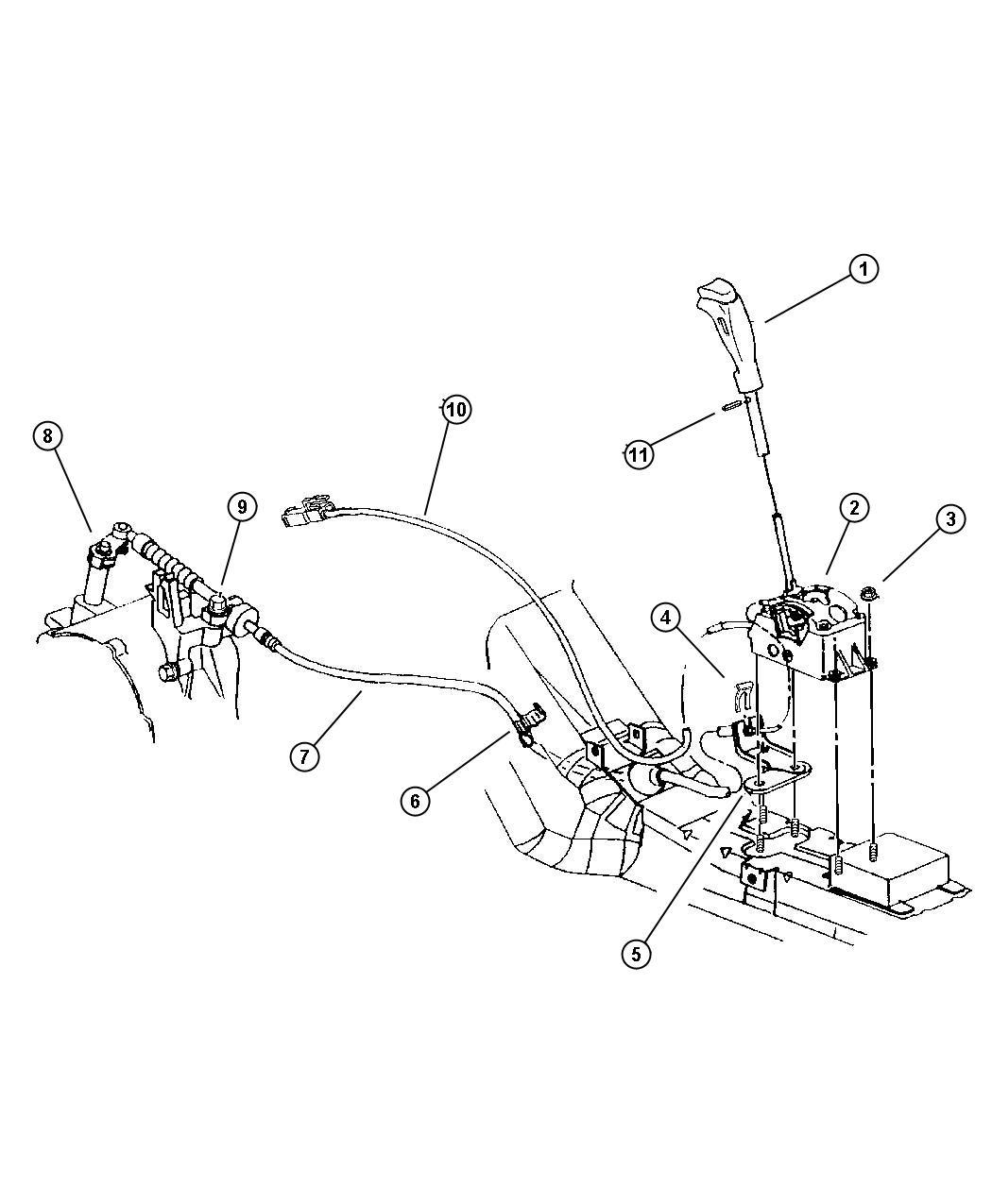 Plymouth Breeze Controls Gearshift Floor Shift Dgl