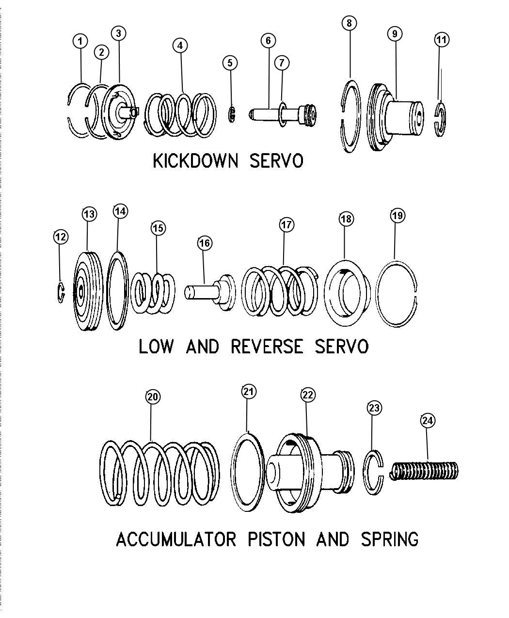 Servos Accumulator Piston And Spring Automatic