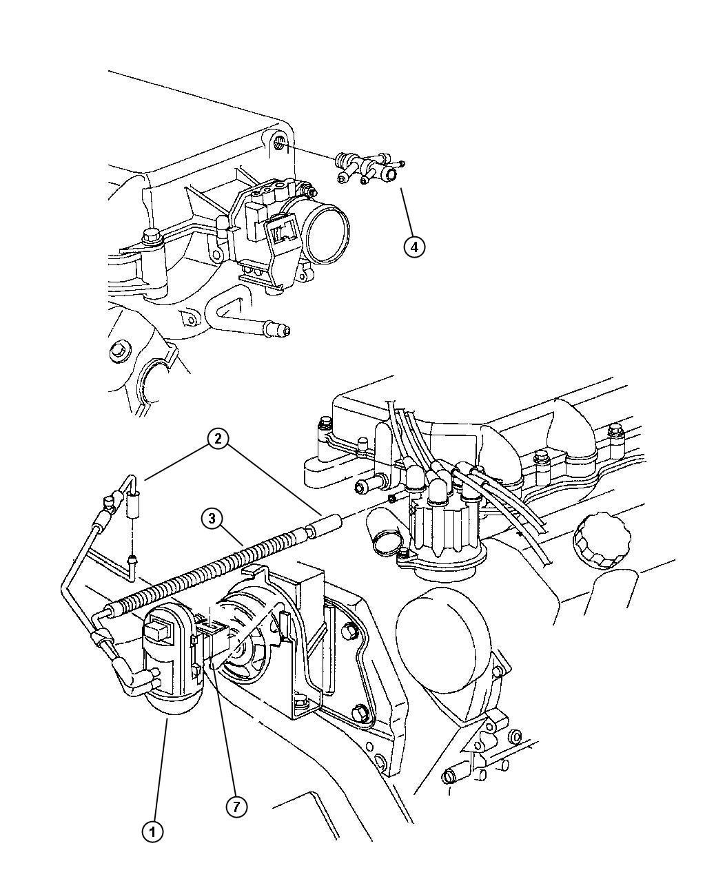 Plymouth Voyager Emission Harness 3 0l Efa Engine
