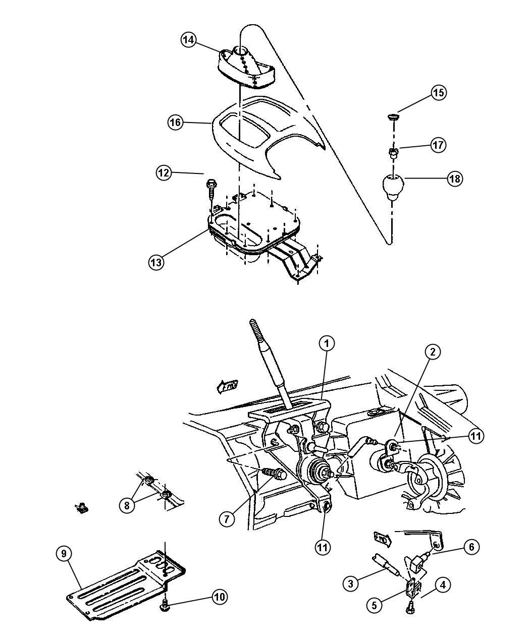 Dodge Dakota Gearshift Controls Shift On The Fly Dhk