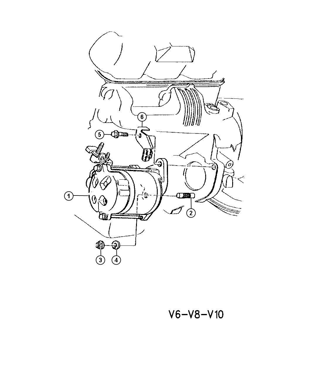 Dodge Ram Starter Amp Mounting Gas Engines